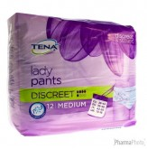 Tena Protective Underwear Women Discreet Medium 795203 12 pièces
